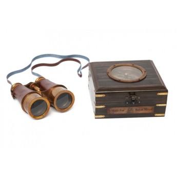 Бинокль с компасом и латунным декором Secret De Maison(mod. 48366)