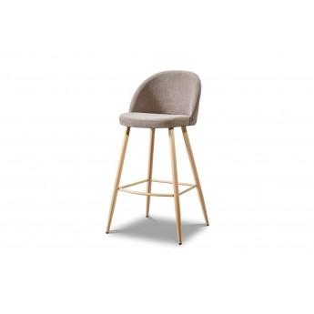 Барный стул 373B dark beige/wood