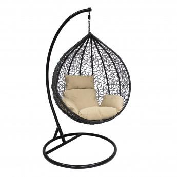 Подвесное кресло LESET ALTAR BLACK МИ каркас Чёрный, подушка Кофейная