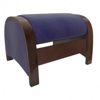 Пуф-глайдер МИ Модель Balance 2 Орех/шпон, ткань Verona Denim Blue