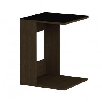 Стол журнальный LS 731 02.01 (корпус-венге,стекло-черный)