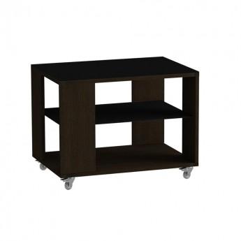 Стол журнальный LS 733 02.01 (корпус-венге,стекло-черный)