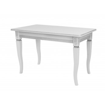 Стол раздвижной Leset Дакота 1Р МИ Белый 9003 + патина серебро