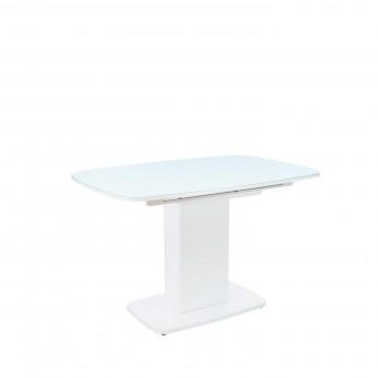 Стол раздвижной Leset Денвер 1Р МИ Белый лак, стекло Белое