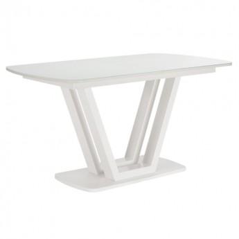 Стол раздвижной Leset Каби МИ металл Белый, стекло Белое