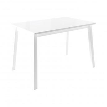Стол раздвижной Leset Морон МИ металл Белый, стекло Белое