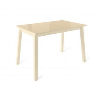 Стол раздвижной Leset Морон МИ металл Кремовый, стекло Кремовое