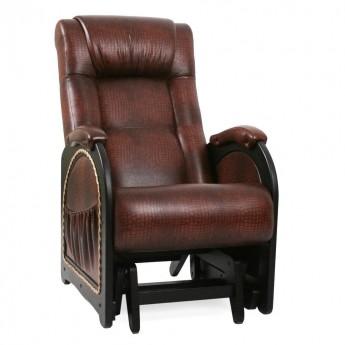 Кресло-качалка глайдер МИ Модель 48 Венге, к/з Antik crocodile