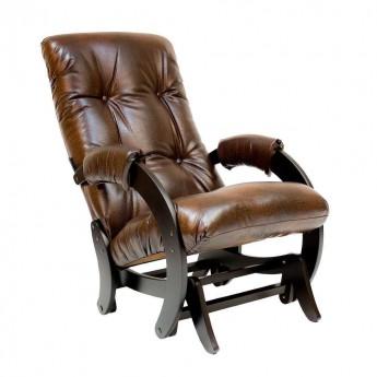 Кресло-качалка глайдер МИ Модель 68 Венге, к/з Antik crocodile