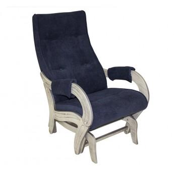 Кресло-качалка глайдер МИ Модель 708 Дуб шампань патина, ткань Verona Denim Blue