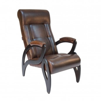 Кресло для отдыха МИ Модель 51 Венге, к/з Antik crocodile