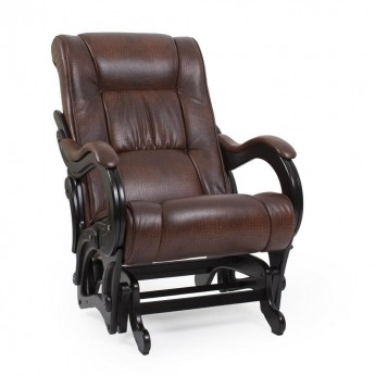 Кресло-качалка глайдер МИ Модель 78 Венге, к/з Antik crocodile
