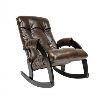 Кресло-качалка МИ Модель 67 Венге, к/з Antik crocodile