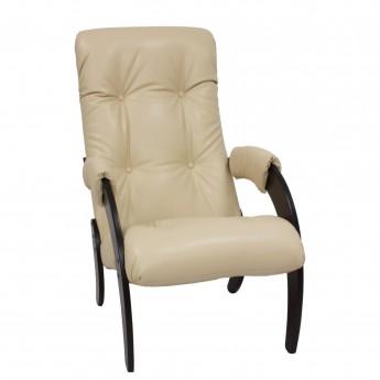 Кресло для отдыха МИ Модель 61 Венге, к/з Polaris Beige