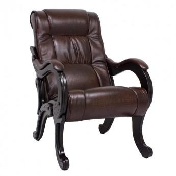 Кресло для отдыха МИ Модель 71 Венге, к/з Antik crocodile