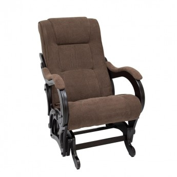 Кресло-качалка глайдер МИ Модель 78 Венге, ткань Verona Brown