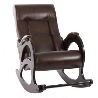 Кресло-качалка МИ Модель 44 без лозы Венге б/л, к/з Antik crocodile