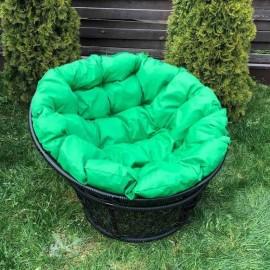 Кресло Papasan, мет. каркас, черный/зеленый