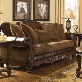 6310038 Диван трехместный Fresco DuraBlend Antique, Ashley Furniture