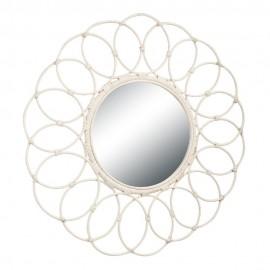 Зеркало из натурального ротанга, 50/01-М White