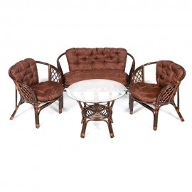 Комплект кофейный БАГАМА ST (стол+2 кресла+диван, подушка твил)