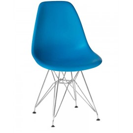 Стул Eames LMZL-PP638A хромированные ножки, голубой