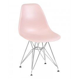 Стул Eames LMZL-PP638A хромированные ножки, светло-розовый