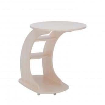 Подкатной столик МИ Стелс Молочный дуб