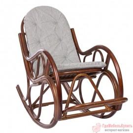 Кресло-качалка CLASSIC с подушкой, Орех
