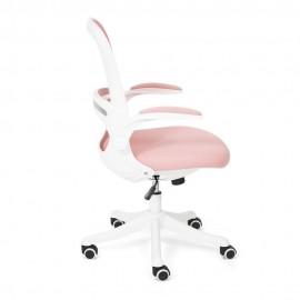 Кресло Happy white, розовый