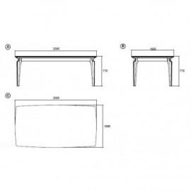Обеденный стол ELEGANTE (Мраморный) темный мрамор