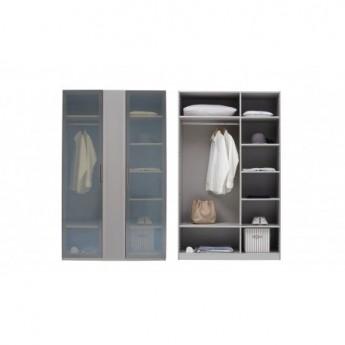Шкаф 3-дверный ASTORIA Enza Home серый