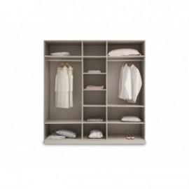Шкаф 5-дверный ASTORIA Enza Home серый
