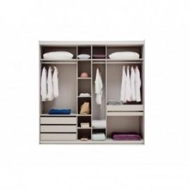 Шкаф-купе ASTORIA Enza Home (240 см) серый