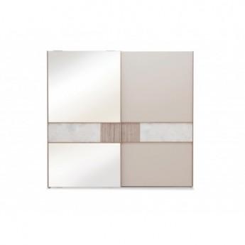 Шкаф-купе PRAGA Enza Home (240 см) кремовый с зеркалом