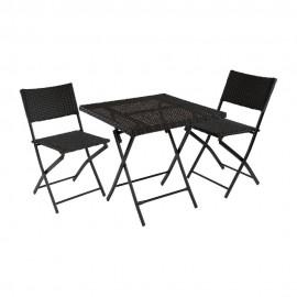 Комплект кофейный складной PARIS (стол и 2 стула)