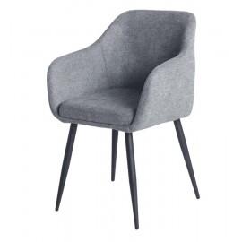 Кресло OKAY8709, меланж серый grey STITCH