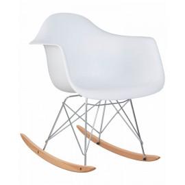 Кресло-качалка LMZL-PP620A, цвет белый