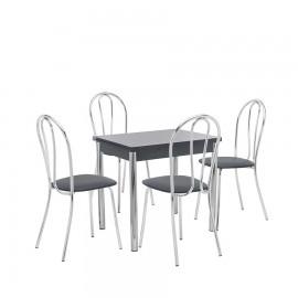 Набор мебели для кухни Leset Лиль 1Р + Луар, хром / антрацит