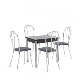 Набор мебели для кухни Leset Лиль 1Р + Луар, хром / венге