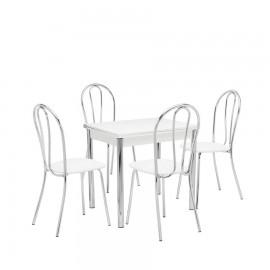 Набор мебели для кухни Leset Лиль 1Р + Луар, хром / белый