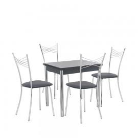 Набор мебели для кухни Leset Лиль 1Р + Рейн, хром / антрацит