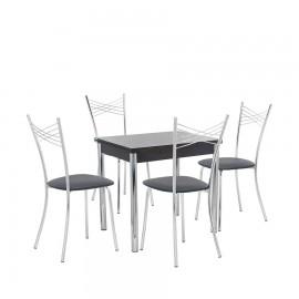 Набор мебели для кухни Leset Лиль 1Р + Рейн, хром / венге