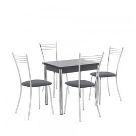 Набор мебели для кухни Leset Лиль 1Р + Тахо, хром / антрацит