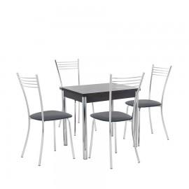 Набор мебели для кухни Leset Лиль 1Р + Тахо, хром / венге