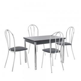 Набор мебели для кухни Leset Марсель 2Р + Луар, хром / венге