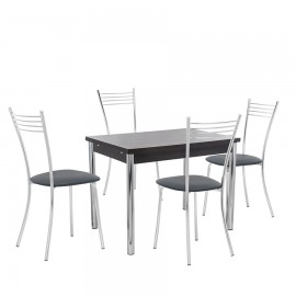 Набор мебели для кухни Leset Марсель 2Р + Тахо, хром / венге