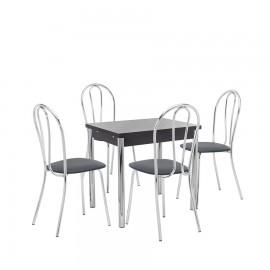 Набор мебели для кухни Leset Марсель 1Р + Луар, хром / венге