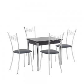 Набор мебели для кухни Leset Марсель 1Р + Рейн, хром / венге