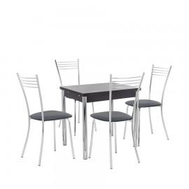 Набор мебели для кухни Leset Марсель 1Р + Тахо, хром / венге